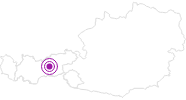 Accommodation Pension Alpina in the Region Hall - Wattens: Position on map