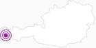 Unterkunft Fewo Montibeller in Montafon: Position auf der Karte