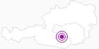 Unterkunft Dreiwiesenhütte in der Urlaubsregion Murtal: Position auf der Karte