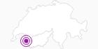 Unterkunft Auberge Le Paradis in Portes du Soleil - Chablais: Position auf der Karte