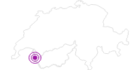 Unterkunft Gîte d`alpage Le Lapisa in Portes du Soleil - Chablais: Position auf der Karte