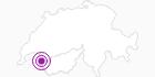 Unterkunft Chalets Chesery in Portes du Soleil - Chablais: Position auf der Karte
