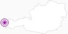 Unterkunft Familienappartement Edelweiss im Bregenzerwald: Position auf der Karte
