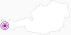 Unterkunft Pension Faneskla in Montafon: Position auf der Karte