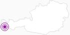 Accommodation Hotel Gasthof Adler in Montafon: Position on map