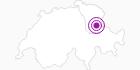 Accommodation Casa Fluretta in the Heidiland : Position on map