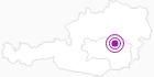 Unterkunft Almhütte Raidlgut in der Hochsteiermark: Position auf der Karte
