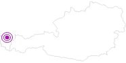 Unterkunft Pension Bals im Bregenzerwald: Position auf der Karte