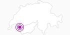 Unterkunft Reservationszentrale Chablais Tourisme in Portes du Soleil - Chablais: Position auf der Karte