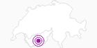 Unterkunft Cabane de Tracuit im Val d'Anniviers: Position auf der Karte