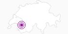 Unterkunft Refuge de Pierredar in Genferseegebiet: Position auf der Karte