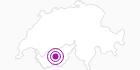Unterkunft Gîte du Prilett im Val d'Anniviers: Position auf der Karte