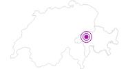 Accommodation Talstation Valata in Surselva: Position on map