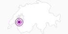 Unterkunft Chalet Les Pueys in Fribourg: Position auf der Karte