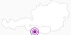 Unterkunft EDERHOF in Hohe Tauern - die Nationalpark-Region in Kärnten: Position auf der Karte