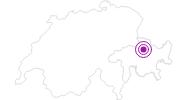 Unterkunft Ferienhaus Federspiel in Chur: Position auf der Karte