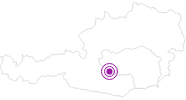 Accommodation Haus Becker in the Murtal Holiday Region: Position on map
