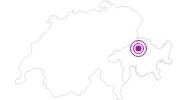 Unterkunft 3,5-Zimmerwohnung mit Parkplatz in Chur: Position auf der Karte