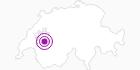 Unterkunft Chalet du Chamois (950m) in Fribourg: Position auf der Karte