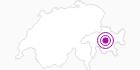 Unterkunft Bellaluna in Bergün Filisur: Position auf der Karte
