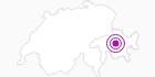 Unterkunft Casamiro in Bergün Filisur: Position auf der Karte