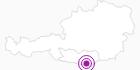 Unterkunft Ferienhäuser ZUM MÜHLRAD in der Carnica-Region Rosental: Position auf der Karte