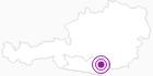Unterkunft Almhütten Traunig in der Erlebnisregion Hochosterwitz - Kärntenmitte: Position auf der Karte