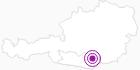 Unterkunft Bio Arche in der Erlebnisregion Hochosterwitz - Kärntenmitte: Position auf der Karte