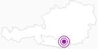 Unterkunft Ferienhaus Helmut LIEGL in der Erlebnisregion Hochosterwitz - Kärntenmitte: Position auf der Karte