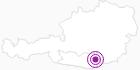Unterkunft ALMDORF GRASSLER in der Erlebnisregion Hochosterwitz - Kärntenmitte: Position auf der Karte
