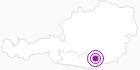 Unterkunft Gießlhütte in der Erlebnisregion Hochosterwitz - Kärntenmitte: Position auf der Karte