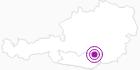 Unterkunft MOSELEBAUERHÜTTE in der Erlebnisregion Hochosterwitz - Kärntenmitte: Position auf der Karte