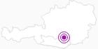 Unterkunft TONNERHÜTTE in der Erlebnisregion Hochosterwitz - Kärntenmitte: Position auf der Karte