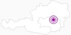 Unterkunft Eichfeldhütte in der Hochsteiermark: Position auf der Karte