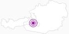 Accommodation Pfandlinghof Ammerer in the Grossarltal: Position on map