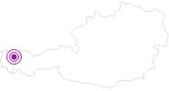 Unterkunft Gästehaus Martina im Kleinwalsertal: Position auf der Karte