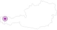Unterkunft Gästehaus Josef Sarcher im Kleinwalsertal: Position auf der Karte