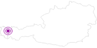 Accommodation Berghütte Laubenzug in the Kleinwalsertal: Position on map