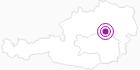Unterkunft Bauernhof Digruber in der Hochsteiermark: Position auf der Karte