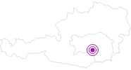 Accommodation Sportgasthof Lipp in South & West Styria: Position on map