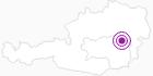 Unterkunft Ferienwohnung Hedenigg in der Alpenregion Nationalpark Gesäuse: Position auf der Karte