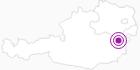 Unterkunft Frühstückspension Karl Buchner in den Wiener Alpen in Niederösterreich: Position auf der Karte