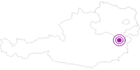 Unterkunft Steirer-Hof Pfeffer in den Wiener Alpen in Niederösterreich: Position auf der Karte