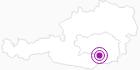 Unterkunft Almhütten - Fam. Schmid in Region Graz: Position auf der Karte