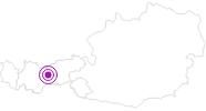 Unterkunft Gästehaus Bergland Garni Innsbruck & seine Feriendörfer: Position auf der Karte