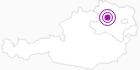 Unterkunft Weinbau-Gästezimmer Familie Gebetsberger im Waldviertel: Position auf der Karte