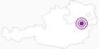 Accommodation Landhaus Scheibenreif in the Vienna Alps in Lower Austria: Position on map
