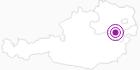 Unterkunft Wasserfallweg Ferienwohnung in den Wiener Alpen in Niederösterreich: Position auf der Karte