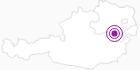 Unterkunft Damböckhaus in den Wiener Alpen in Niederösterreich: Position auf der Karte