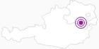 Unterkunft Edelweisshütte in den Wiener Alpen in Niederösterreich: Position auf der Karte